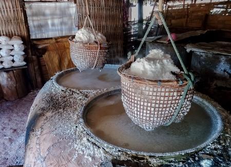 Traditional production of salt Stok Fotoğraf - 119599907