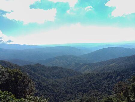 Beautiful mountains and blue skies Stok Fotoğraf - 128046755