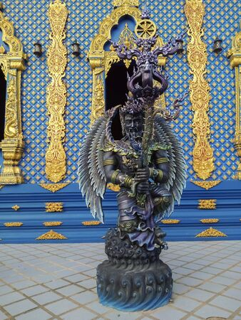 Angel statues in fiction in Thai temples
