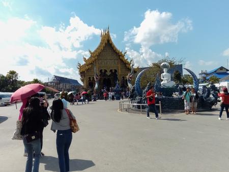 Chiangrai/Thailand-November 25 2018:Tourists see beautiful temples in Thailand. Editöryel
