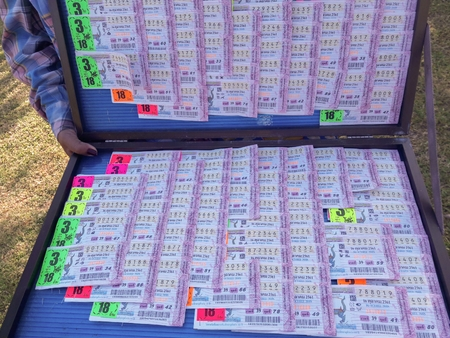 Mahaarakham/Thailand-November 10 2018:Lottery for luck in Thailand Editöryel