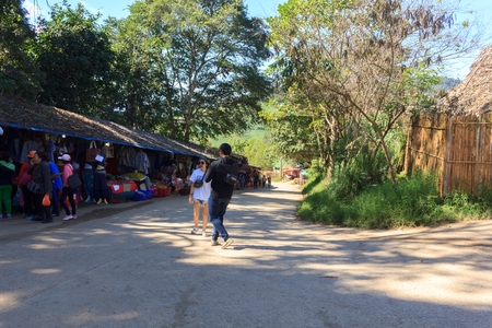 ChiangmaiThailand-November 25 2018:Souvenir shop for tourists
