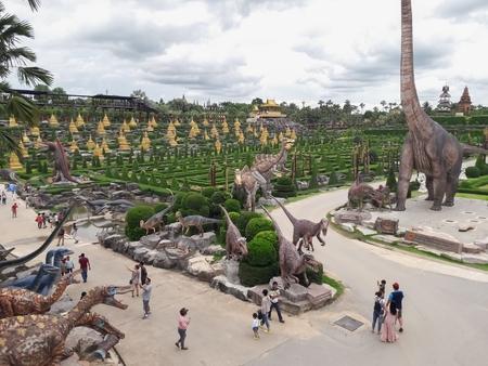 Chonburi/Thailand-June  13 2018:Nong Nooch Garden Tourist attractions in Thailand