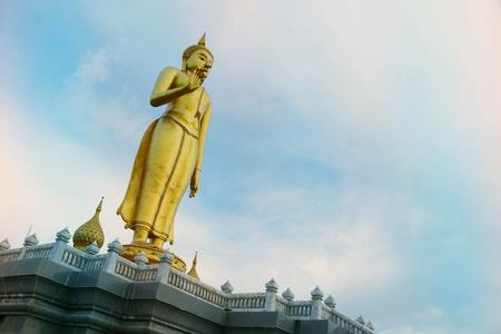 gold: Golden buddha statue Stock Photo