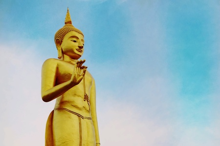 gold: Golden Buddha statue
