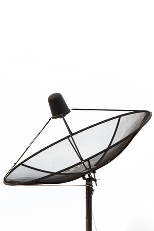 Satellite TV receiver isolate on white background photo