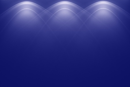empty darkblue wall and lights photo