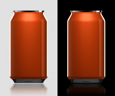 3d orange can different background for new product photo