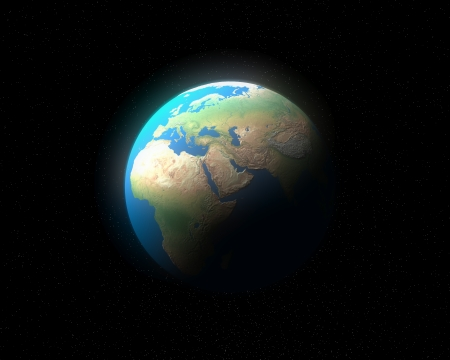 3d global earth europe   africa map photo