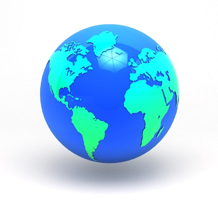 3d earth sphere graphic concept America & Africa , Europe clipping paths include photo