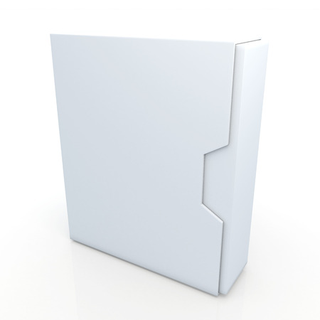 dovetail: 3d clean white box dovetail option container blank template in isolated background with work paths, clipping paths included