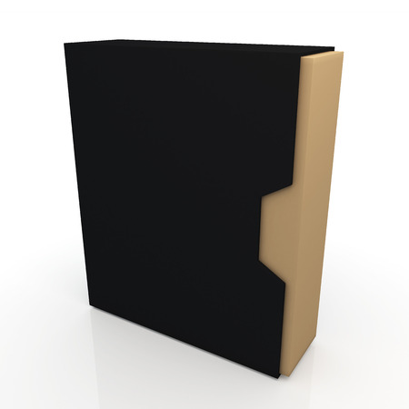 dovetail: 3d matte black and original brown box dovetail option container blank template in isolated background with work paths, clipping paths included
