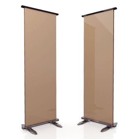 chrome base: Marrone e base cromata originale 3d display di stand roll in sfondo isolato con percorsi di lavoro, i percorsi di clipping incluso