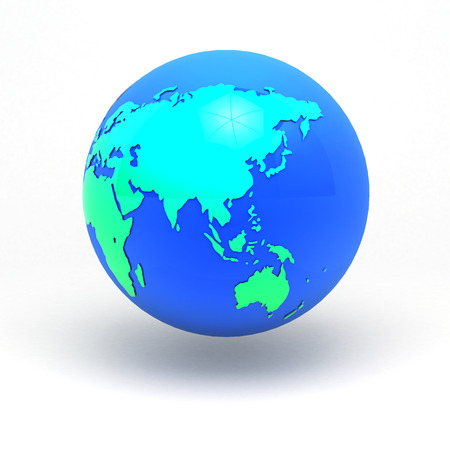 3d earth sphere graphic concept all asia path in global sphere isolated background clipping path include photo