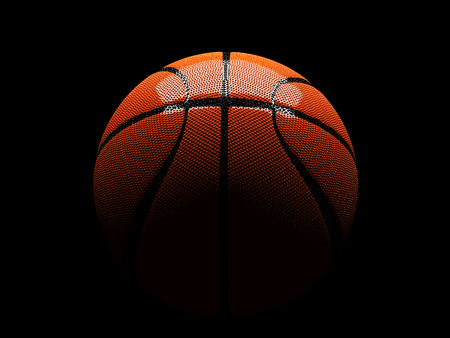 3d basket ball in between light and shadow have reflections, isolated clipping paths include photo