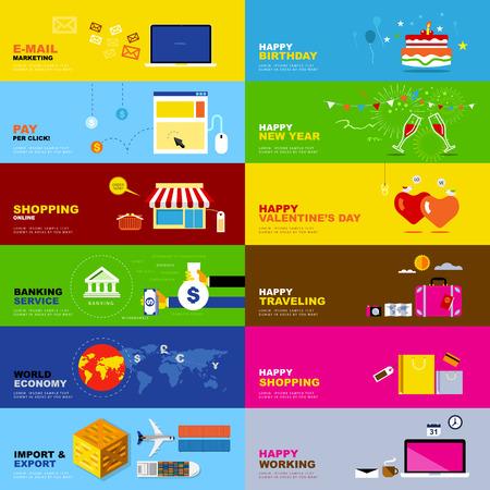 world economy: Vector E-mail Marketing, Pay per Click, Shopping Online, Banking Service, World Economy, Import Export, Happy Birthday, Happy new Year, Happy Valentine