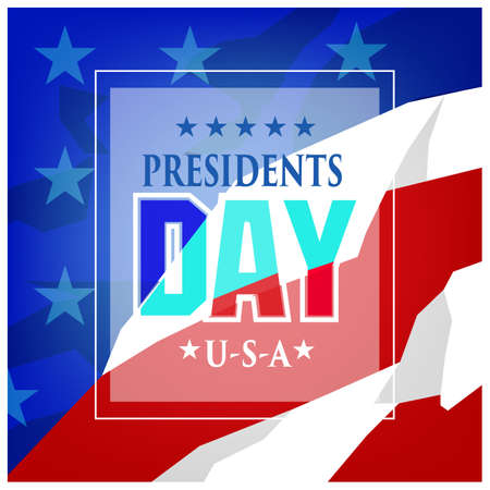 presidents: Vector Illustration Presidents day background.