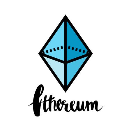 cash: Ethereum symbol icon, vector illustration logo design. Illustration
