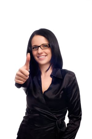 Young woman with glasses and long dark hair Stock Photo - 5011220