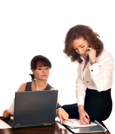Successful business team working together at office Stock Photo - 5025484