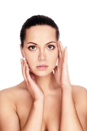 Portrait of young adult woman with health skin of face Stock Photo - 5025394