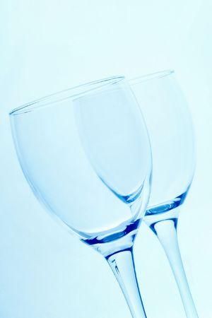 refle: wine glasses Stock Photo