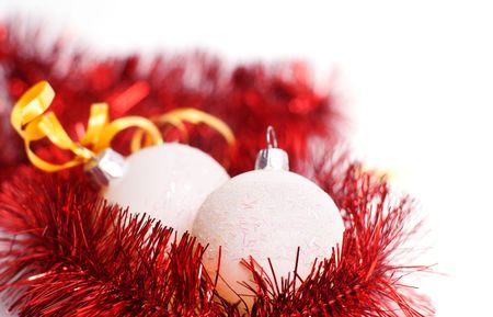 isolataion: christmas balls isolated on white background  Stock Photo