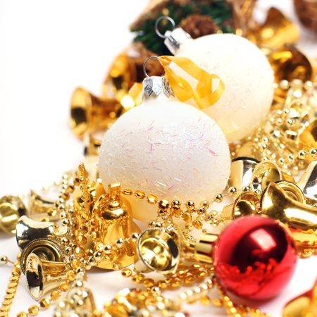 isolataion: christmas balls isolated on white background
