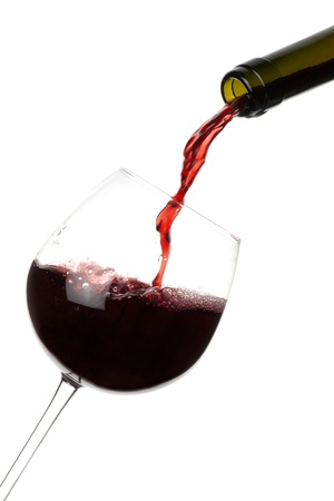 red wine pouring: Red Wine Pouring
