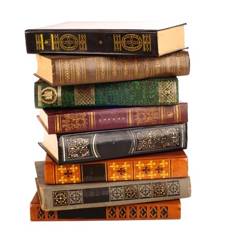 pile of books: Libri antichi Archivio Fotografico