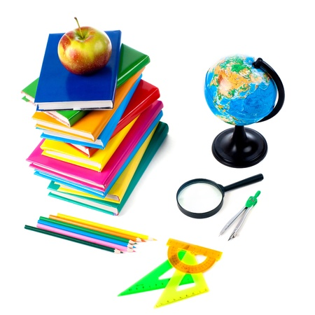 teaching crayons: Back to school supplies  Isolated