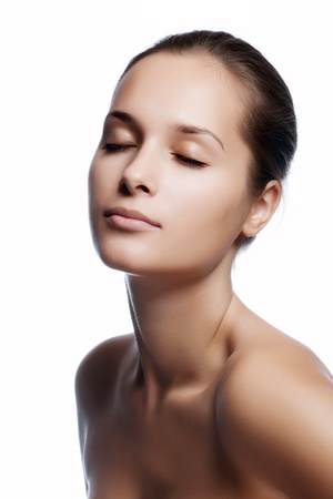 Schöne gesunde Frau Gesicht Standard-Bild