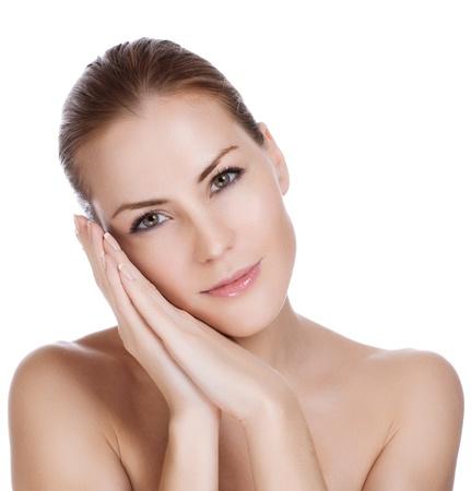 Schönheit und Gesundheit der jungen Frau Standard-Bild