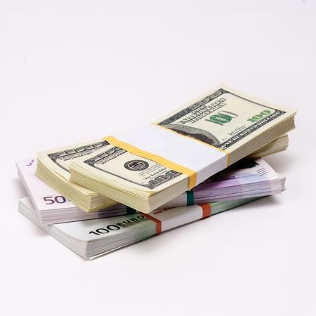Two leading hard currencies - US Dollar versus Euro