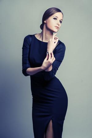 femme brune sexy: Beauty brunette