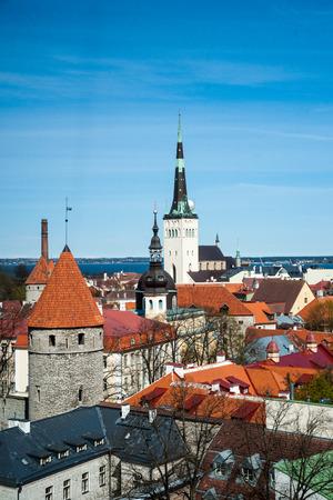 estonia: Tallinn, Estonia old city view.
