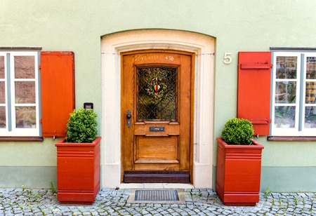 europeans: Colorful facade of a house in Germany
