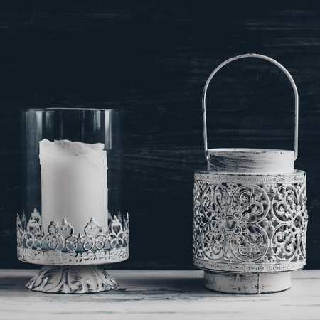 candle holders: Vintage candleholders in the style of Provence