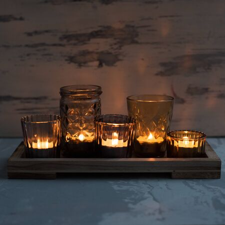 Vintage candleholders in the style of Provence