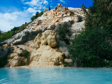 Thermal water for bathing Saturnia famous in Tuscany.