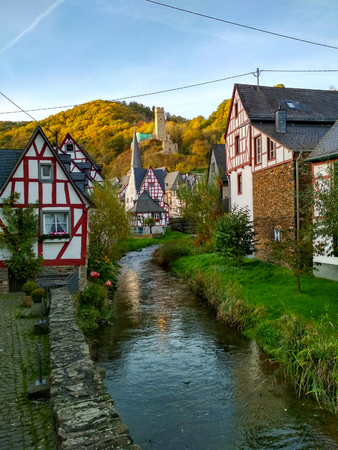 Monreal, one of the most beautiful towns in the Eifel, Germany. Stock Photo