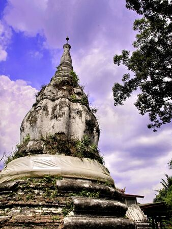 koh: Pagoda in Koh Kret Thailand Stock Photo