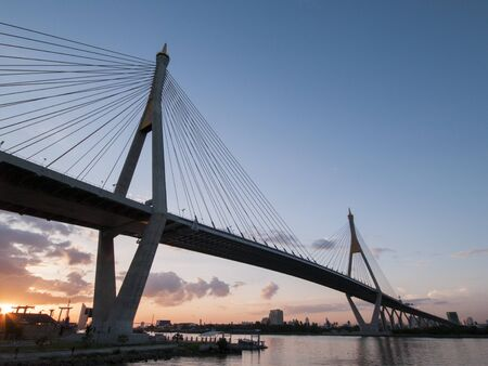 bhumibol: Bhumibol Bridge , Thailand Stock Photo