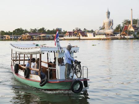 phraya: boating on the Chao Phraya River , Thailand