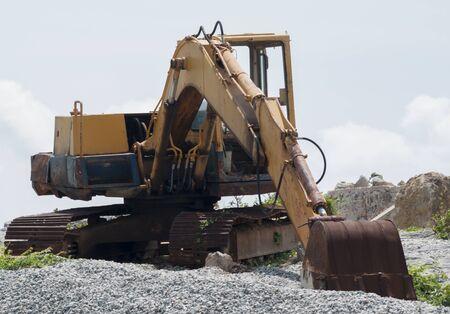 loader: Old loader excavator machine