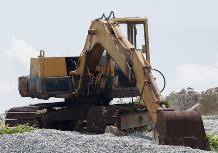 loader: Old loader excavator machine