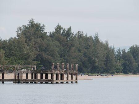 old pier: Very Old Pier in Fisherman Village, Thailand
