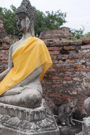 chaimongkol: Wat Yai Chaimongkol  Ayutthaya Thailand Stock Photo