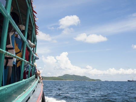 seaway: view of passenger ferry boat , Thailand Stock Photo