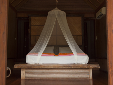 bedsheets: Tropical bed with mosquito netting